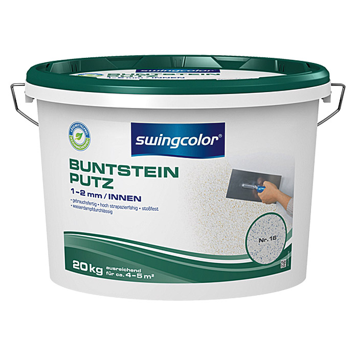 BUNTSTEINPUTZ 1-2mm 20 kg FARBTON 16    SWINGCOLOR