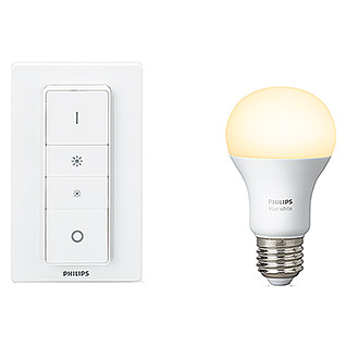 Philips Hue LED-Leuchtmittel-Set Kit E27 (9 W, E27, Warmweiß, Dimmbar)