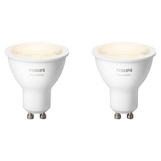 Philips Hue LED-Leuchtmittel-Set (5,5 W, GU10, Warmweiß, Dimmbar, 2 Stk.)