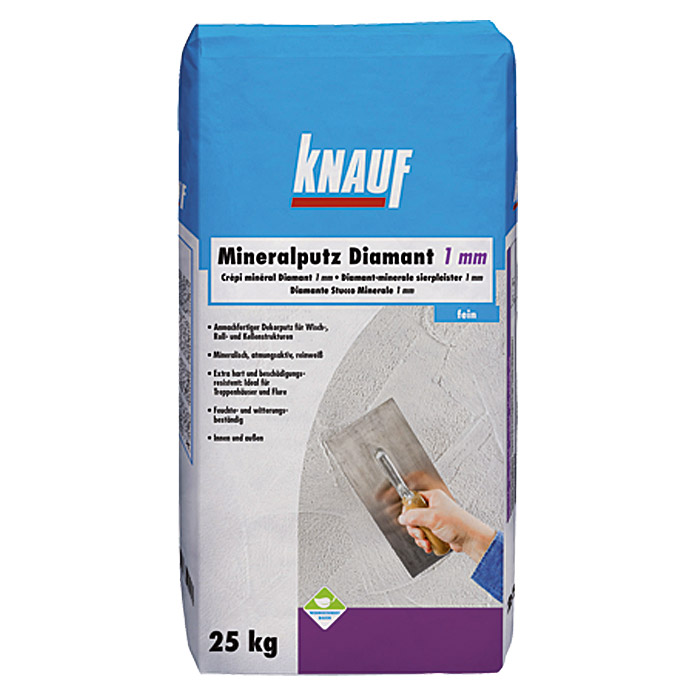 knauf mineral rollputz diamant 25 kg 1 mm bauhaus. Black Bedroom Furniture Sets. Home Design Ideas