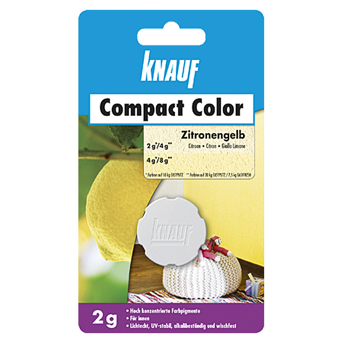 Knauf Putz-Abtönfarbe Compact Color (Zitrone, 2 g)