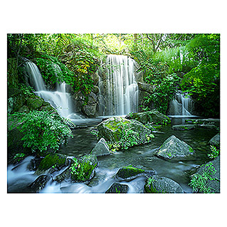 ProArt Young Living Kunstdruck auf Keilrahmen (Forest & Waterfall I, 80 x 60 cm)