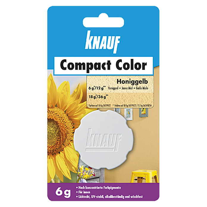 Knauf Putz-Abtönfarbe Compact Color (Honiggelb, 6 g)