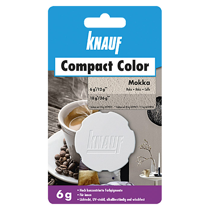 Knauf Putz-Abtönfarbe Compact Color (Mocca, 6 g)