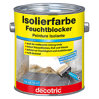 Decotric Isolierfarbe Feuchtblocker (Weiß, 2 l, Matt)