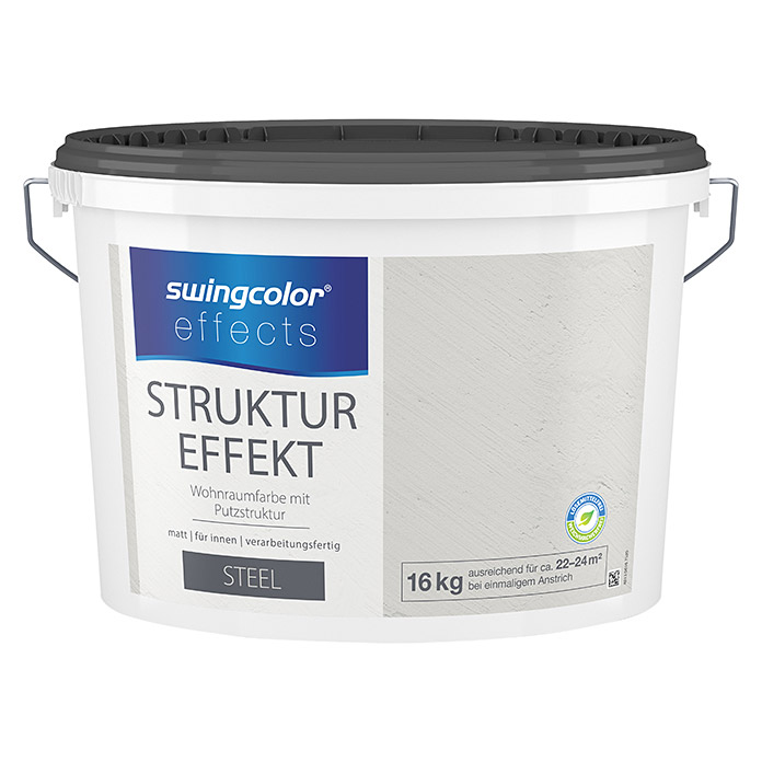 swingcolor effects Strukturfarbe (Putz, Steel, 16 kg)