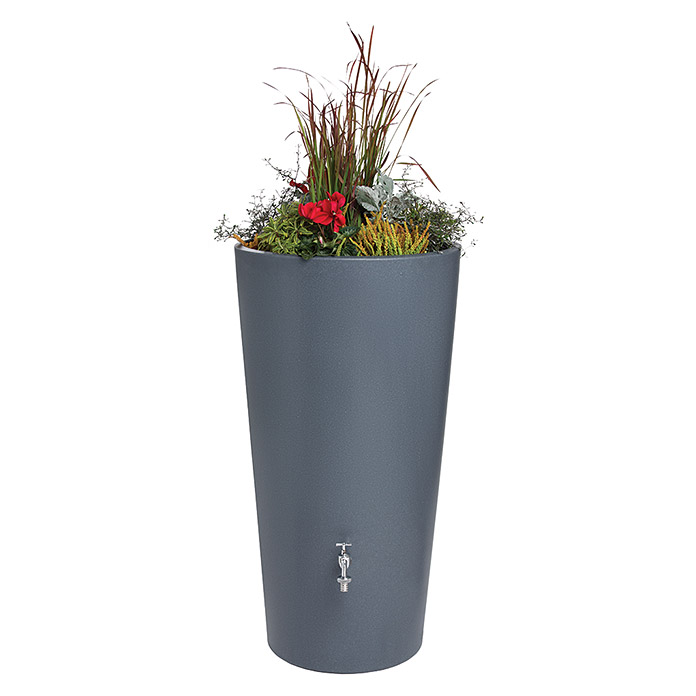 3P Technik Regenspeicher Rainbowl Flower (150 l, Betongrau)