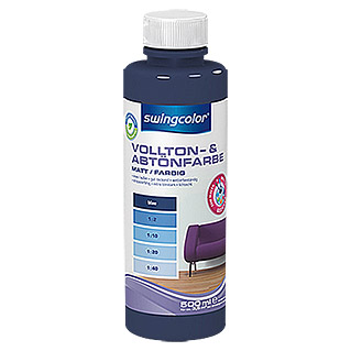 swingcolor Vollton- & Abtönfarbe (Blau, 500 ml, Matt)