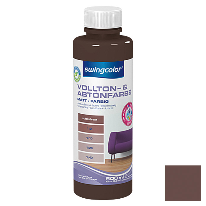 swingcolor Vollton- & Abtönfarbe  (Schokobraun, 500 ml)