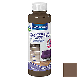 swingcolor Vollton- & Abtönfarbe (Braun, 500 ml, Matt)