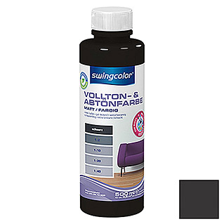 swingcolor Vollton- & Abtönfarbe (Schwarz, 500 ml, Matt)