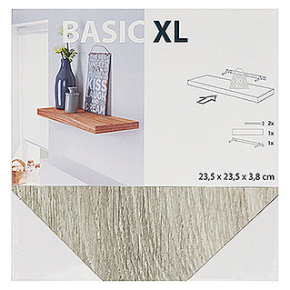 Duraline Basic Estante flotante XL4 (L x An x Al: 23,5 mm x 23,5 cm x 3,8 cm, Roble gris)