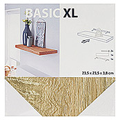 Duraline Basic Estante flotante XL4 (L x An x Al: 23,5 mm x 23,5 cm x 3,8 cm, Roble Sonoma)