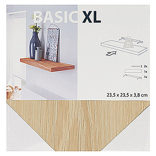 Duraline Basic Estante flotante XL4 (L x An x Al: 23,5 mm x 23,5 cm x 3,8 cm, Roble blanco)