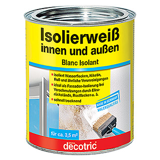 Decotric Isolierfarbe Isolierweiß (750 ml, Weiß, Matt)