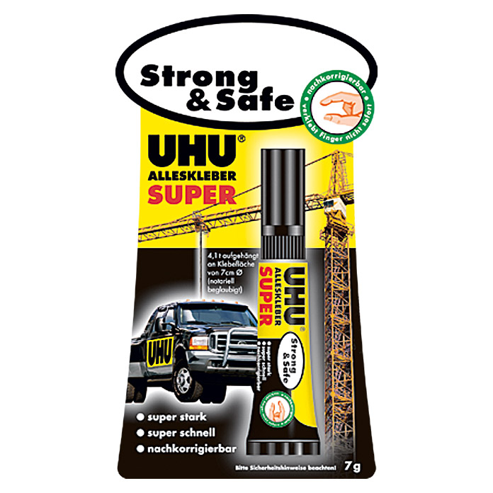 UHU Alleskleber Super Strong & Safe (7 g, Tube)