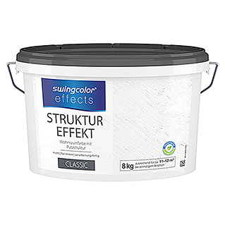 swingcolor effects Strukturfarbe (Putz, Weiß, 8 kg)