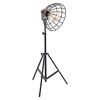Tween Light Vinto Lámpara de pie (40 W, Negro/Marrón, Altura: 175 cm)