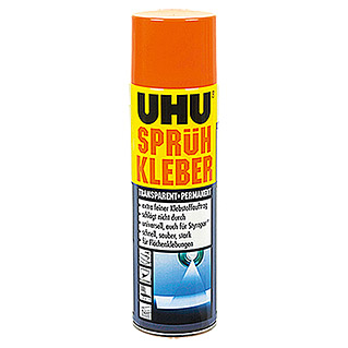 UHU Sprühkleber transparent + permanent (500 ml, Sprühdose)