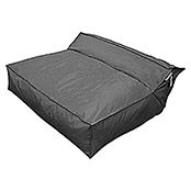 Outdoor-Sitzsack Mega Lounge Bed Square XXL (114 x 110 x 52 cm, Anthrazit)