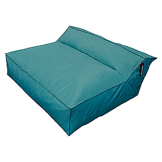 Outdoor-Sitzsack Mega Lounge Bed Square XXL (114 x 110 x 52 cm, Petrol)