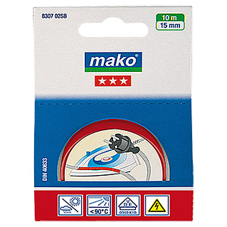 Mako Isolierband (Rot, 10 m x 15 mm)