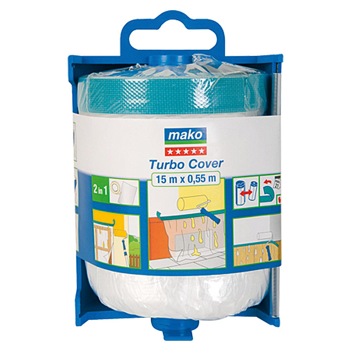 Mako Abdeckfolie Turbo Cover (Im Spender, 0,55 x 15 m)
