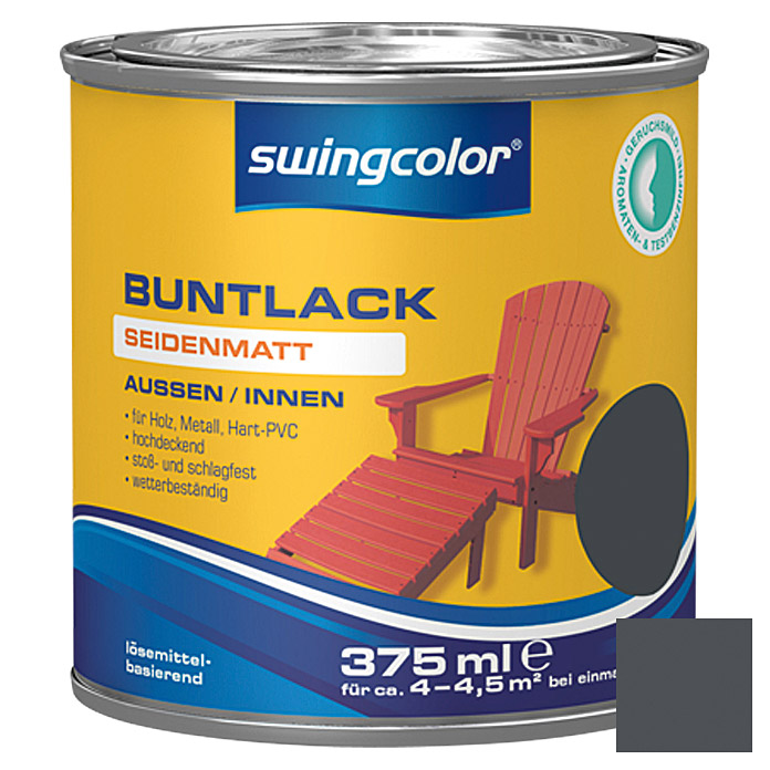 swingcolor Buntlack  (Anthrazit, 375 ml)