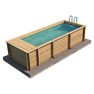 myPool Massivholzpool Pool 'n the Box  (L x B x H: 626 x 253 x 133 cm, 12.200 l)