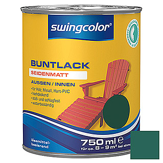 swingcolor Buntlack (Moosgrün, 750 ml, Seidenmatt)
