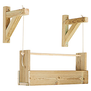 Maceta de pared Vertical Woody (Largo: 69 cm, Natural, 1 Bandeja)