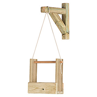Maceta de pared Vertical Woody (Largo: 28 cm, Natural, 1 Bandeja)