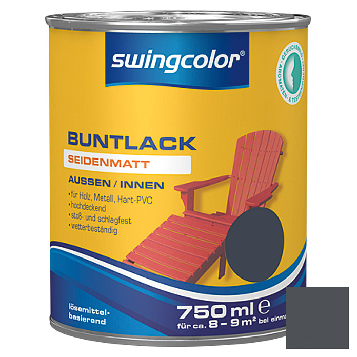 swingcolor Buntlack  (Anthrazit, 750 ml)
