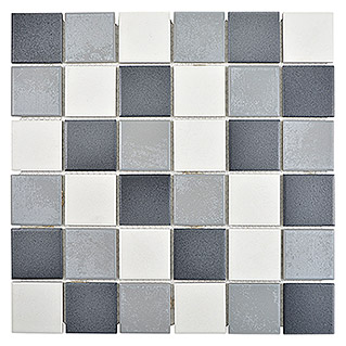 Mosaikfliese Quadrat Mix CD 216 (30,6 x 30,6 cm, Grau, Matt)