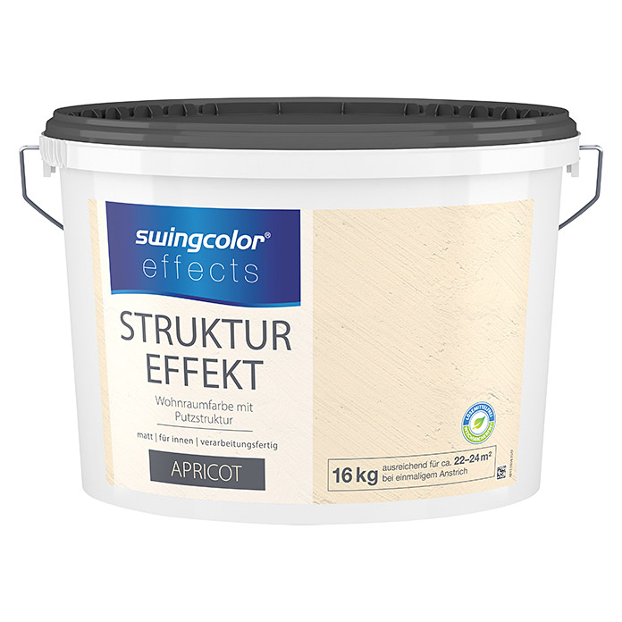 swingcolor effects Strukturfarbe (Putz, Apricot, 16 kg)