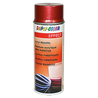 Dupli-Color Effect Acryl-Lackspray Metallic (Rot Metallic, Seidenmatt, Schnelltrocknend, 400 ml)