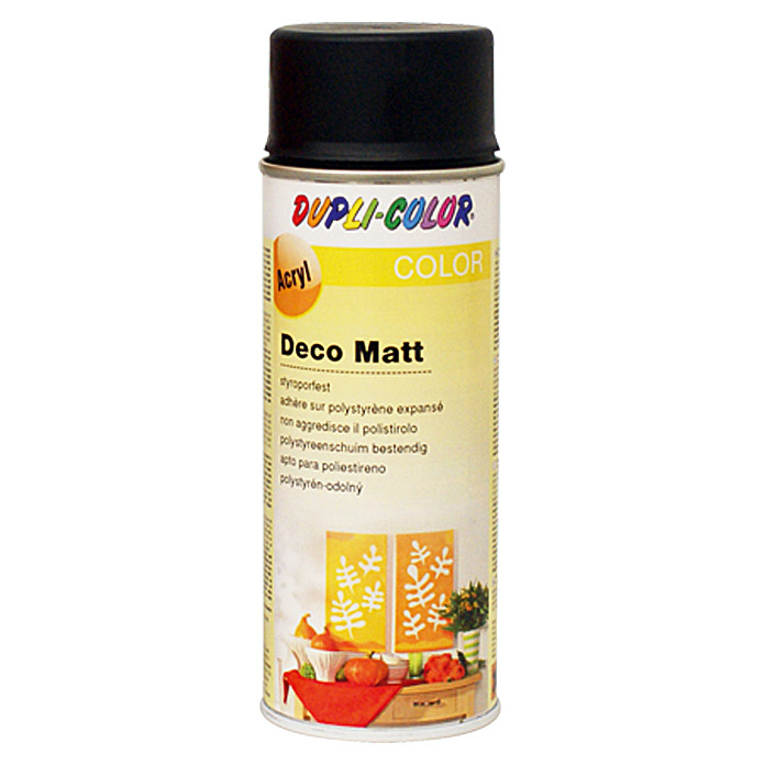 Dupli-Color Color Acryl-Lackspray Deco Matt (Schwarz, 150 ml, Matt)