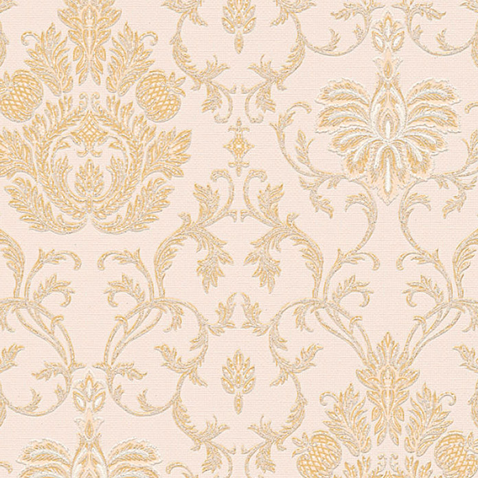 Strukturtapete Belle Epoque (Beige/Gold/Metallic, Ornament, L x B: 10,05 x 0,53 m)