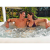 Intex Pure Spa Whirlpool 85 Bubble Massage  (Ø x H: 216 x 71 cm, Laminiertes Vinyl, Beige/Weiß)