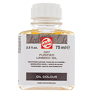 Talens Aceite de linaza Purificado (Incoloro, 75 ml, Brillante)(Incoloro, 75 ml, Brillante)