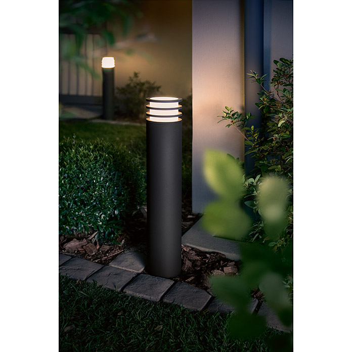 Philips Hue Baliza exterior LED Lucca (1 luz, 9,5 W, Color de luz: Blanco cálido, IP44)