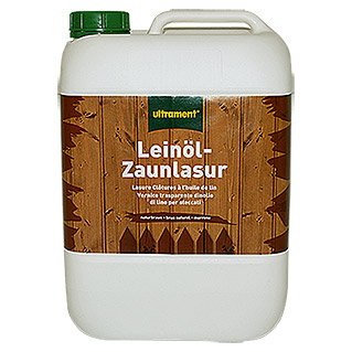 Ultrament Leinöl-Zaunlasur  (10 l, Transparent)