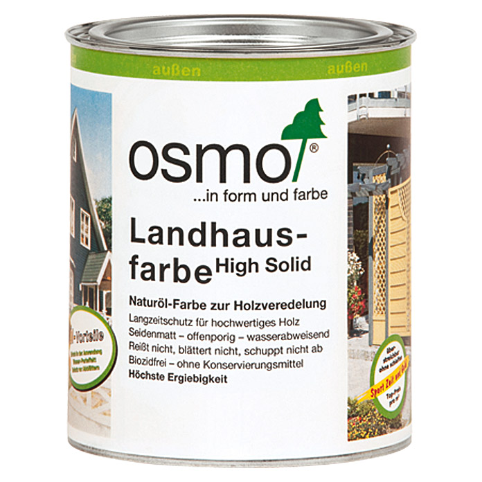 osmo high solid landhausfarbe fichtengelb 750 ml seidenmatt natur lbasis 5937. Black Bedroom Furniture Sets. Home Design Ideas