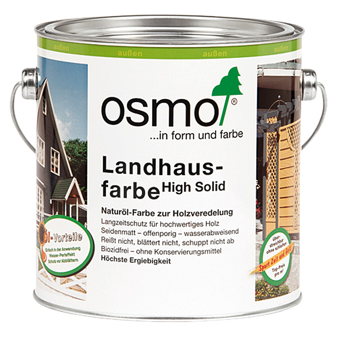 osmo high solid landhausfarbe wei 2 5 l seidenmatt natur lbasis 5937 holzdeckfarben. Black Bedroom Furniture Sets. Home Design Ideas