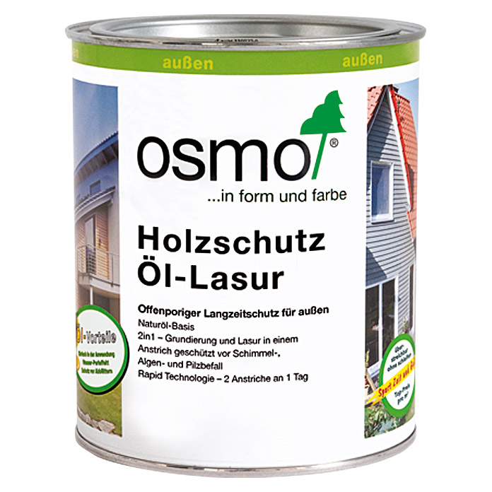 osmo holzschutz l lasur 900 wei 900 750 ml seidenmatt bauhaus. Black Bedroom Furniture Sets. Home Design Ideas