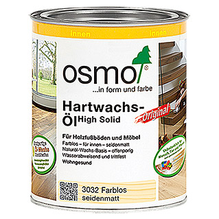 Osmo High Solid Hartwachsöl Original 3032 (Farblos, 750 ml, Seidenmatt)