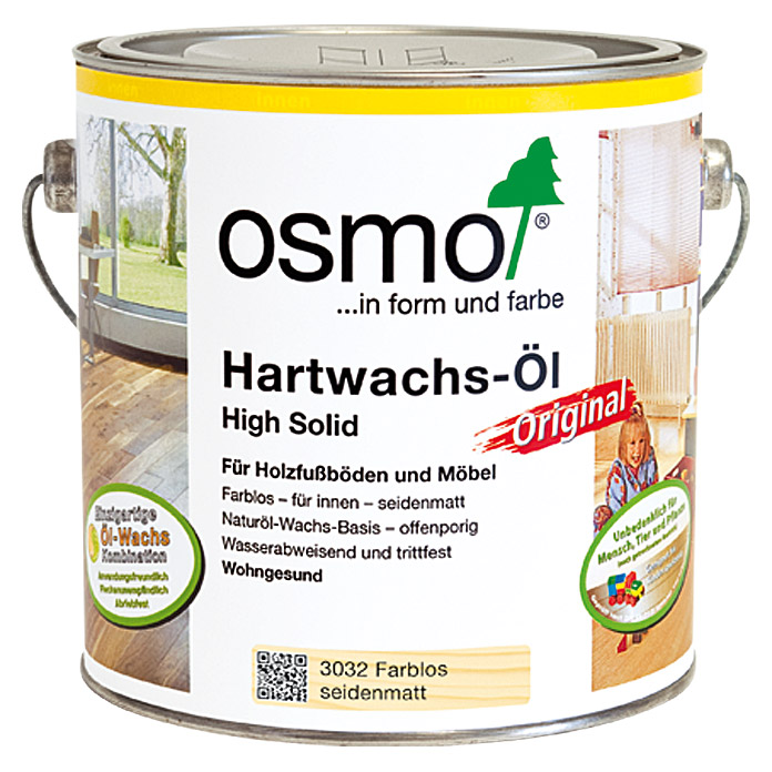 osmo high solid hartwachs l original 3032 farblos 2 5 l seidenmatt 5952 null hadk. Black Bedroom Furniture Sets. Home Design Ideas