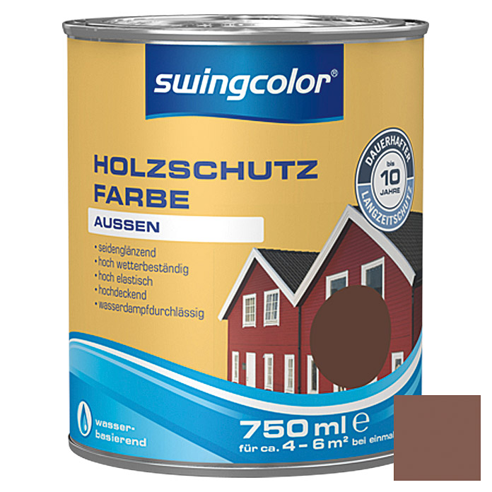 swingcolor Holzschutzfarbe  (Nussbraun, 750 ml)