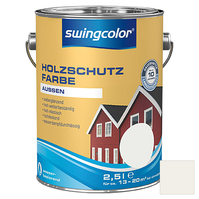 HOLZSCHUTZFARBE WB  2,5 l WEISS        SWINGCOLOR