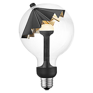 Home Sweet Home LED-Leuchtmittel Umbrella (E27, 5,5 W, Schwarz, G120, Dimmbar)